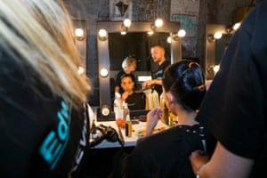 Raenee Sydney backstage.