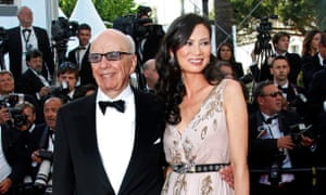 Deng Murdoch with ex-husband Rupert Murdoch in 2011.