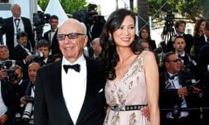 Deng Murdoch with ex-husband Rupert Murdoch in 2011.