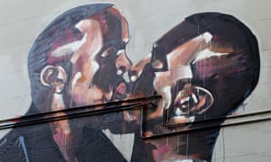The Kanye West mural in Sydney, now painted over by artist Scott Marsh.