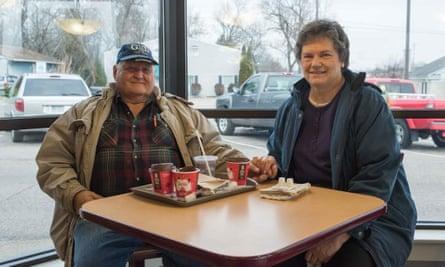 Gary and Joyce Kronz at a McDonald's in Battle Creek.
