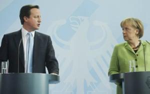 Angela Merkel and David Cameron in Berlin