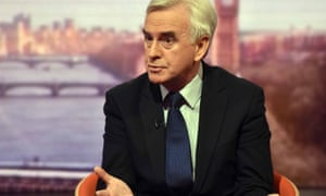John McDonnell speaking to Andrew Marr