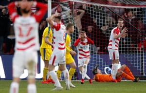 Doncaster Rovers' Alfie May reacts after missing a chance
