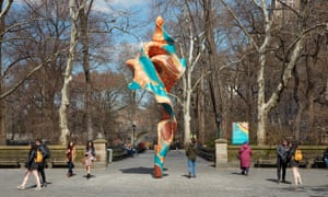 Yinka Shonibare's Wind Sculpture (SG) I in Central Park. 'My piece is about the different backgrounds of people coming together