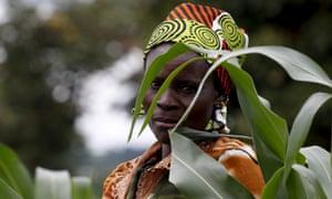 A farmer surveys her maize fields in Dowa near the Malawi capital of Lilongwe, 3 February 2016.