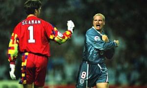 Paul Gascoigne during the Euro 96 final