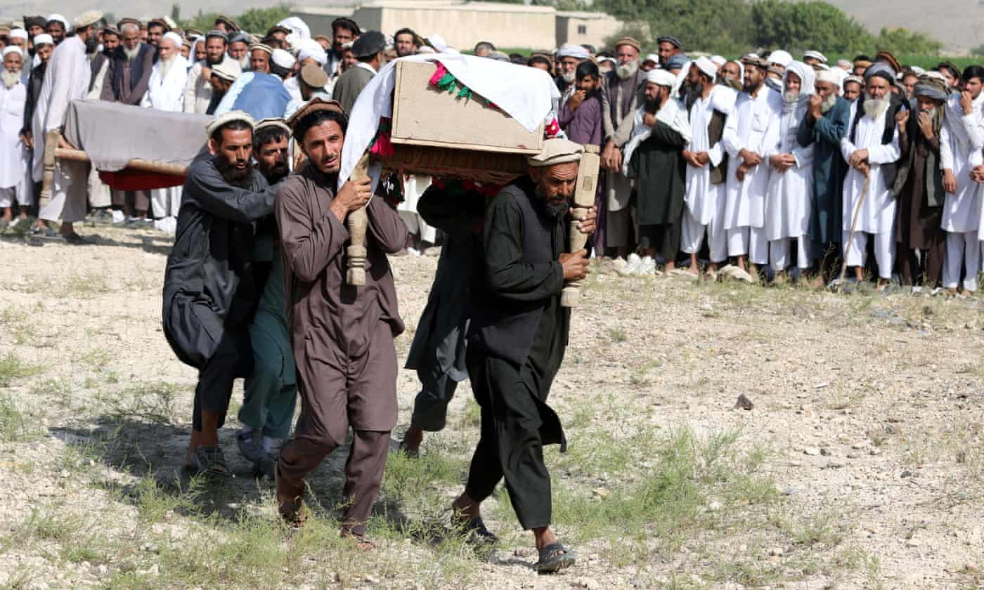 US drone strike intended for Isis hideout kills 30 pine nut workers in Afghanistan