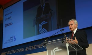 John McDonnell speaking at the Society of Motor Manufacturers and Traders (SMMT) summit in London.