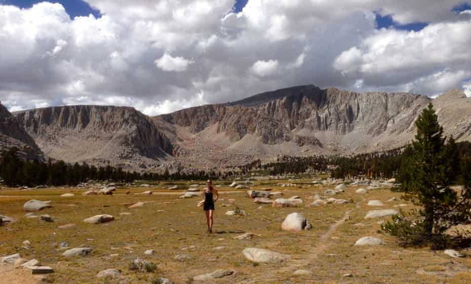 Me at Cottonwood Lakes in Inyo national forest, with the Sierras and Mount Langley peeking out in the back.