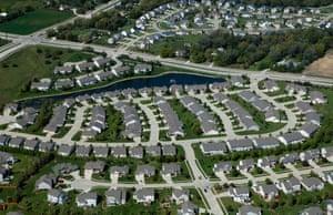 A residential development in west Des Moines, Iowa.