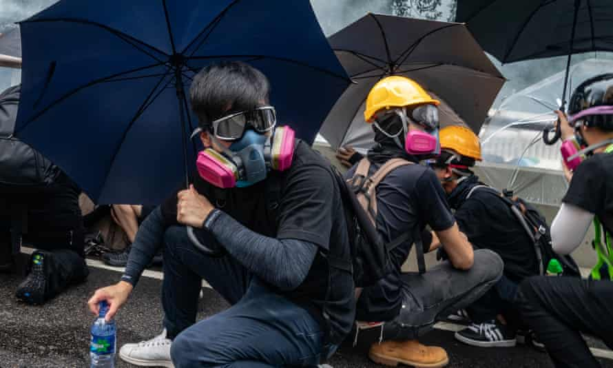 Anti-government protesters during the demonstrations in Hong Kong last year.