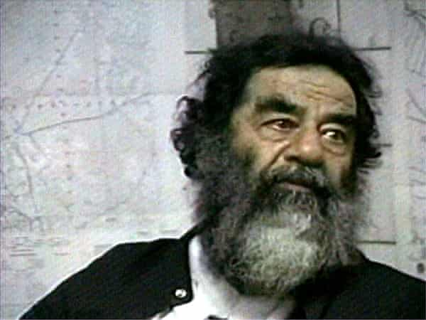Saddam Hussein after his capture in December 2003.