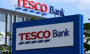 Tesco Bank sign