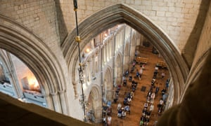 London, UKThe first socially distanced congregation at Southwark Cathedral. Only 80 ticketed seats were available, and 20 walk-in seats.