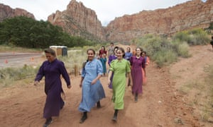 Community members attend a memorial service in Hildale, Utah, a town dominated by the Fundamentalist Latter-day Saints.