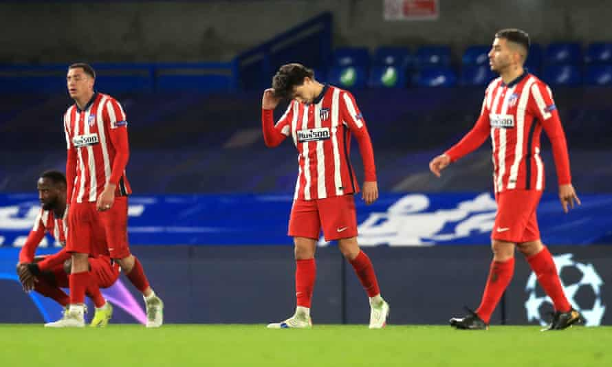 Atlético Madrid digest their Champions League exit at Chelsea on Wednesday.