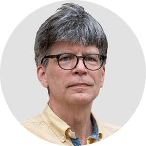 Richard Powers. Circular panelist byline.