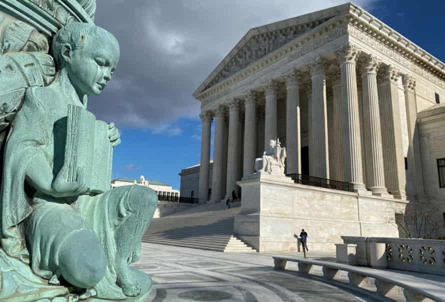 The supreme court in Washington DC.