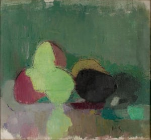 Helene Schjerfbeck, Still Life with Blackening Apples, 1944.