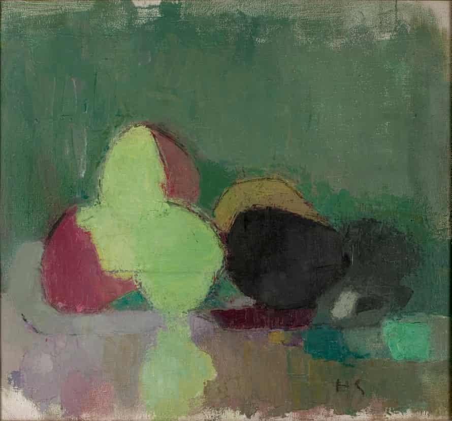 Helene Schjerfbeck, Still Life with Blackening Apples, 1944.