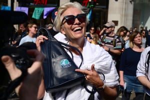 The British actor Emma Thompson joins the protest at Oxford Circus