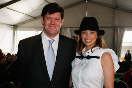 James Packer and wife Erica Baxter.