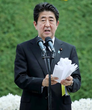 The Japanese prime minister, Shinzo Abe: 'Abdication and the debate and legal revision it would require stands in the way of Abe's burning desire to make state shinto a centrepiece of civil society again.'