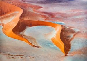 multicoloured sand dunes