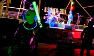 'Alien hunters' dance to live music in Rachel, Nevada, on 19 September.