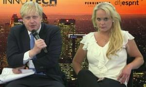 Boris Johnson with Jennifer Arcuri at an Innotech summit.