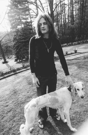 John Paul Jones photographed for the artwork of Led Zeppelin II