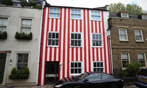 Reading between the lines: Zipporah Lisle-Mainwaring's red-and-white-striped townhouse in Kensington.