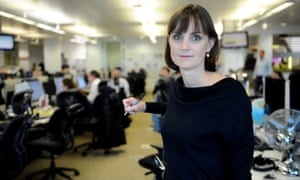 Amelia Gentleman in the Guardian office
