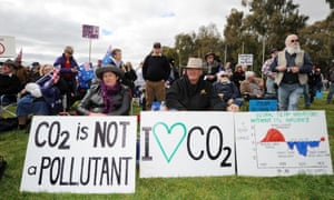 Protesters at a rally to oppose a price on greenhouse gas pollution in Canberra in 2011
