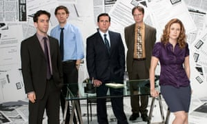 The staff of paper company Dunder Mifflin in US sitcom The Office.
