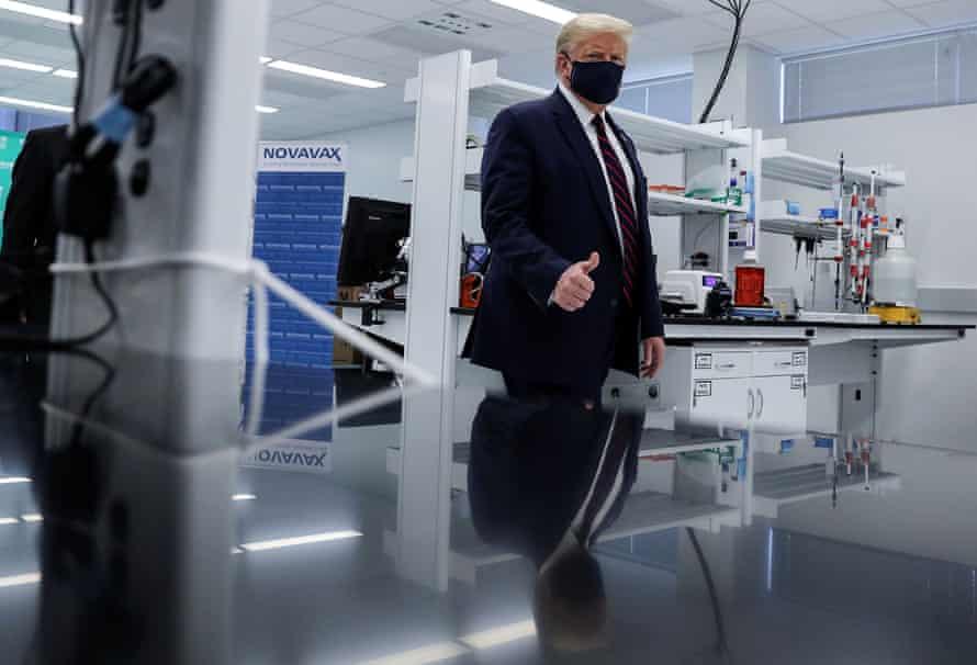 President trump visits the fujifilm diosynth biotechnologies innovation center in morrrisville, north carolina