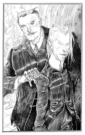Croup and Vandemar from Chris Riddell's illustrated edition of Neil Gaiman's Neverwhere