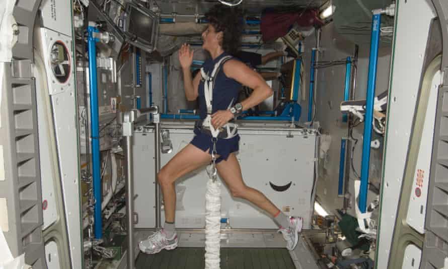 Sunita Williams in training