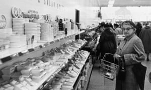 A shopper at the cheese counter at her local supermarket in Maidenhead, 1955.