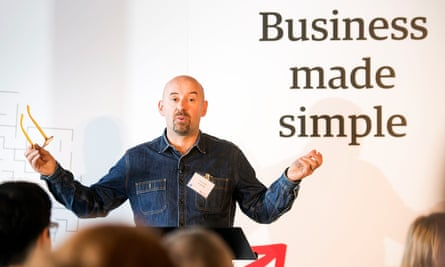 Tim Fendley, speaking at the recent Guardian 'Business Made Simple' event, supported by Vodafone, in Bristol.