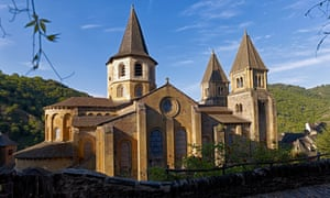 Refuge for pilgrims: the abbey at Conques.