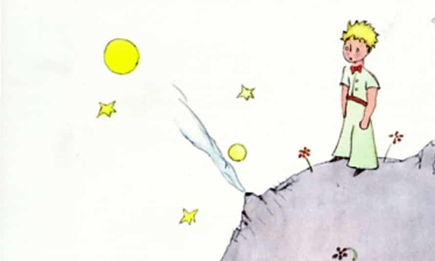 Book jacket for 'Le Petit Prince' by Antione de Saint-Exupery.