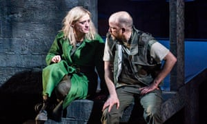 Anne-Marie Duff as Lady Macbeth and Rory Kinnear as Macbeth at the Olivier, National Theatre, directed by Rufus Norris.