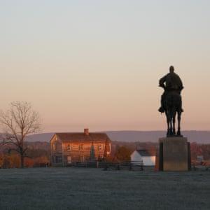 Sunrise on the Manassas national battlefield