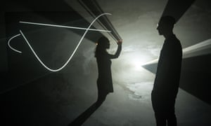 Face to Face by Anthony McCall at the Hepworth Wakefield.