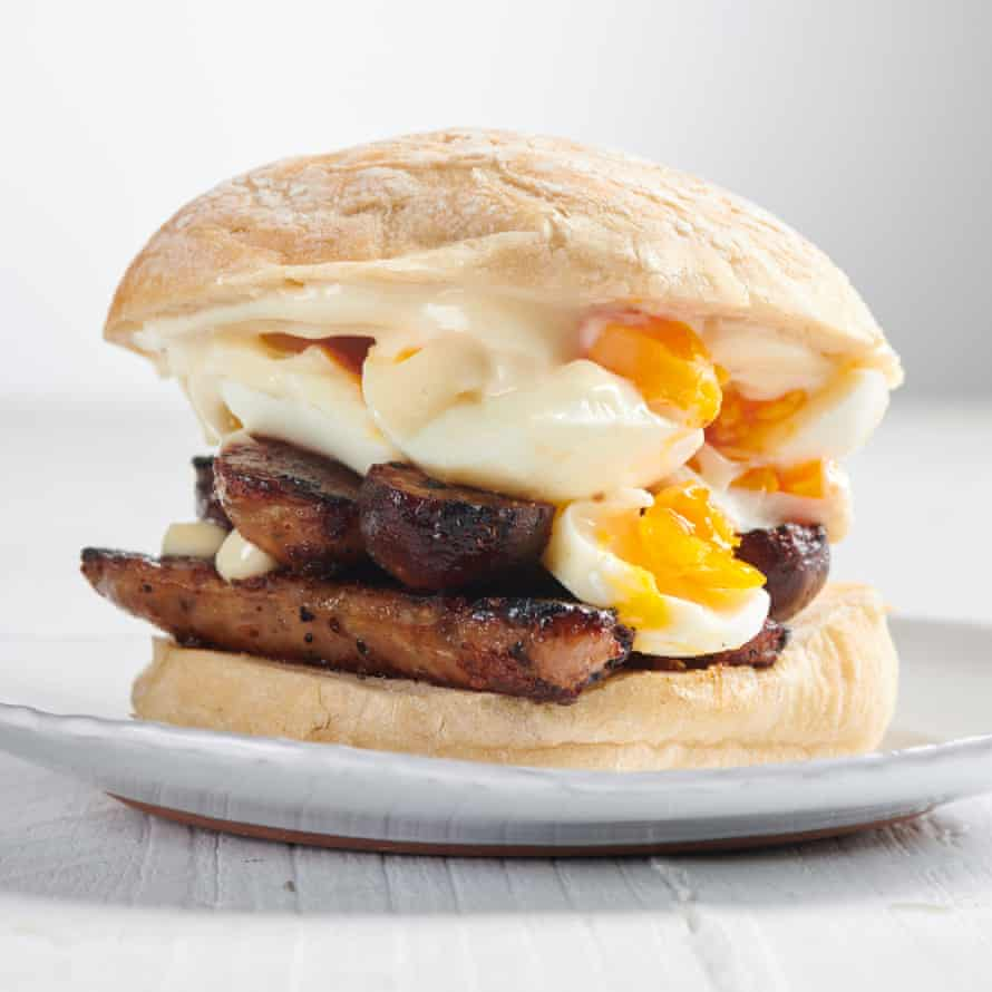 Max Halley's Egg and Sausage Sandwich