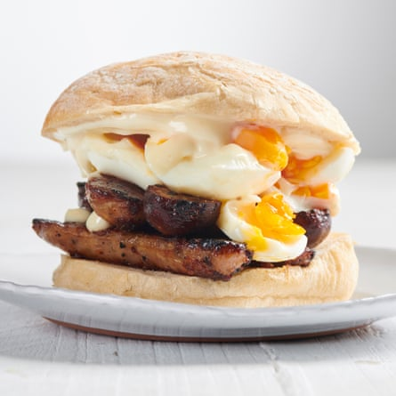 Sausage and egg sandwich by Max Halley.
