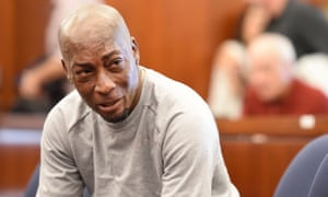 Dewayne 'Lee' Johnson reacts after hearing the verdict in his case against Monsanto. The company was ordered to pay $289m after a jury found its Roundup weedkiller caused his cancer, but Monsanto has continued to fight the case.