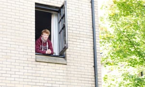Theo Lockett, a student who lives at Murano St Halls, Glasgow, and was the first of his 10 flatmates to test positive for Covid-19 on Thursday.